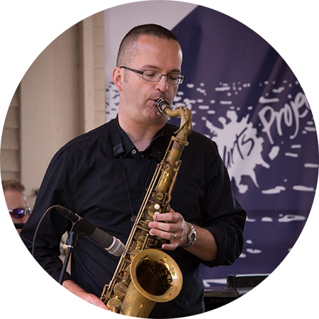 Saxophonist Brian Patnaude
